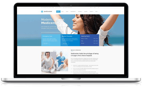 Conception site web Clinique Santé