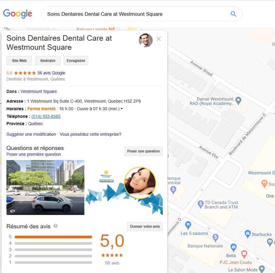 Fiche Google Mon Entreprise